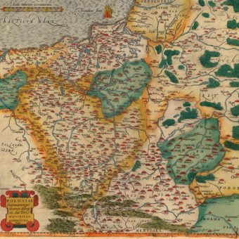 Polska, Theatrum Orbis Terrarum, Abraham Ortelius w 1592 roku (fot. domena publiczna)