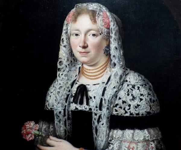 W XVII wieku od kobiet oczekiwano głównie rodzenia i wychowywania dzieci. Na obrazie anonimowa patrycjuszka z Gdańska.