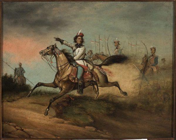 Tadeusz Kościuszko na koniu (fot. domena publiczna)