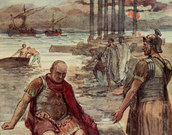 Po zdobyciu Kartaginy w 146 roku przed naszą erą Rzymianie zrównali ją z ziemią. Na ilustracji Gajusz Mariusz wśród ruin miasta.