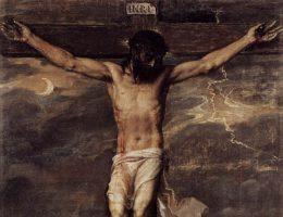 Ukrzyżowanie, obraz Tycjana z około 1555 roku (fot. domena publiczna)