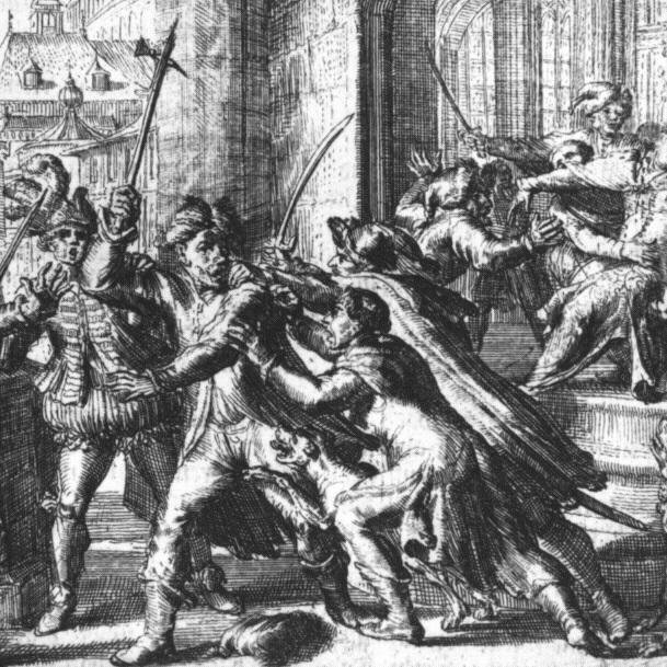 Zamachu na życie monarchy dokonał szlachcic Michał Piekarski.