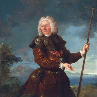Francja wystąpiła w obronie praw Stanisława Leszczyńskiego do polskiej korony. Na obrazie król w stroju pielgrzyma.