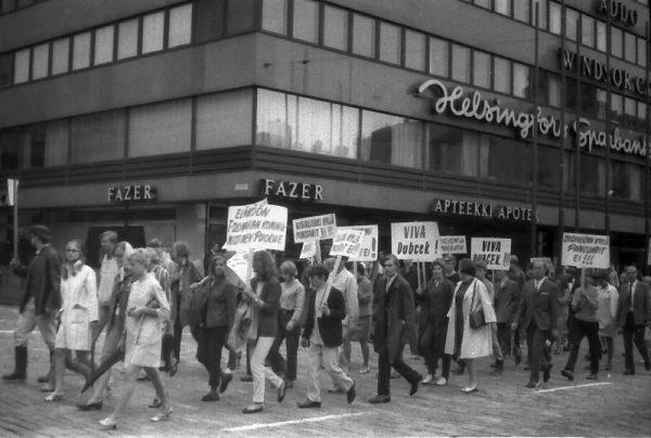 Wydarzenia 1968 roku odczuli ludzie niemal na całym świecie. Na zdjęciu 1968 w Helsinkach.