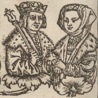 Helena z mężem, Aleksandrem Jagiellończykiem.