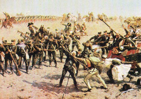 Chłopi mężnie walczyli pod Racławicami.
