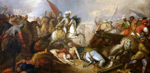 Bitwa pod Chocimiem na obrazie obraz Franciszka Smuglewicza.