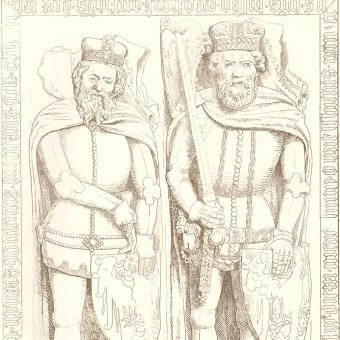 Wspólny nagrobek Bolesława II i jego ojca, Bolesława I.