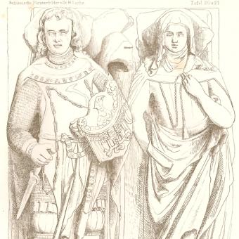 Nagrobek Bolka i jego żony w Henrykowie.