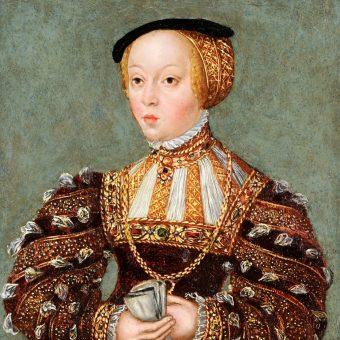 Miniatura Elżbiety Habsburżanki z warsztatu Lucasa Cranacha Młodszego.