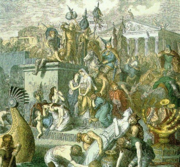 Wandale w 455 roku doszczętnie złupili Rzym.