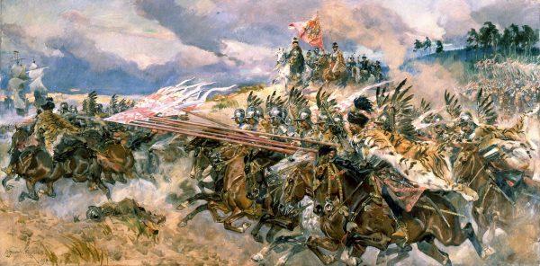 Najważniejszą bronią husarza była kopia. Posiadał on jednak w swoim arsenale wiele innych narzędzi do zadawania śmierci wrogom. W śród nich oczywiście nie mogło zabraknąć szabli. Na ilustracji obraz Wojciecha Kossaka przedstawiający husarię pod Kircholmem.