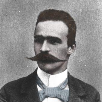 Józef Piłsudski w młodości (fot. domena publiczna, koloryzacja Aleksandra Zaprutko-Janicka)