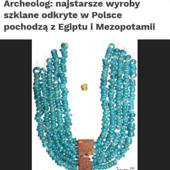 Kolia znaleziona w Targowisku (fot. Screen materiału przygotowanego przez PAP)