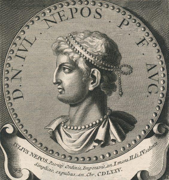 Juliusz Nepos był ostatnim cesarzem zachodniej części imperium, uznawanym przez Konstantynopol.