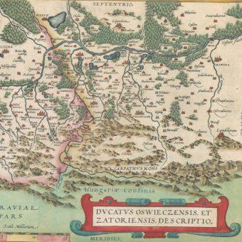 Okolice Zatora i Wadowic na mapie z XVI w. (fot. domena publiczna)