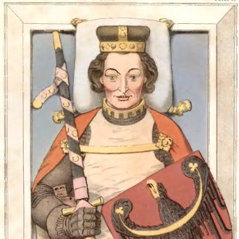 Płyta wierzchnia z nagrobka tumbowego Henryka VI Dobrego (fot. domena publiczna)