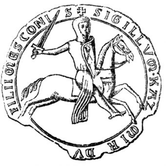 Pieczęć konna Kazimierza I opolskiego z 1226 (fot. domena publiczna)
