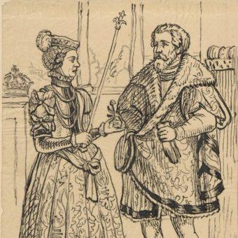 Portret Władysława II Wygnańca z żoną Agnieszką Babenberg, rodziców Konrada (fot. domena publiczna)