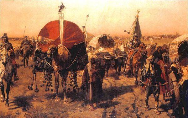 Zwycięzcy wracali spod Wiednia, objuczeni zdobytymi na wrogu łupami.
