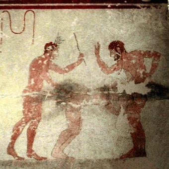 Scena erotyczna z etruskiego grobowca (fot. domena publiczna)