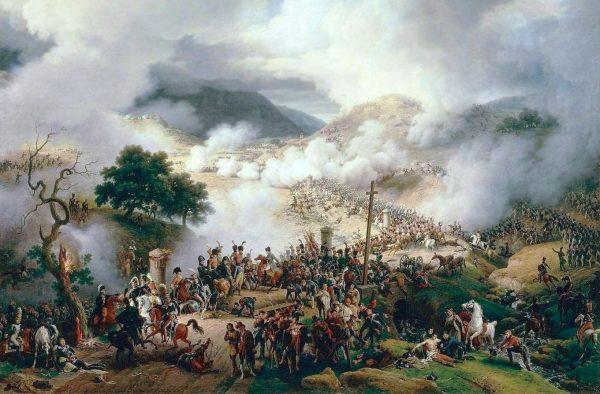 Generał Benito San Juan wykorzystał cztery zakręt na drodze prowadzącej przez wąwóz Somosierra jako miejsca rozlokowania artylerii.