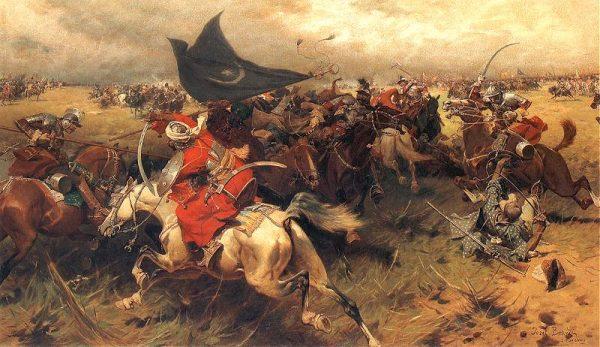 Walka o turecki sztandar na obrazie Józefa Brandta.