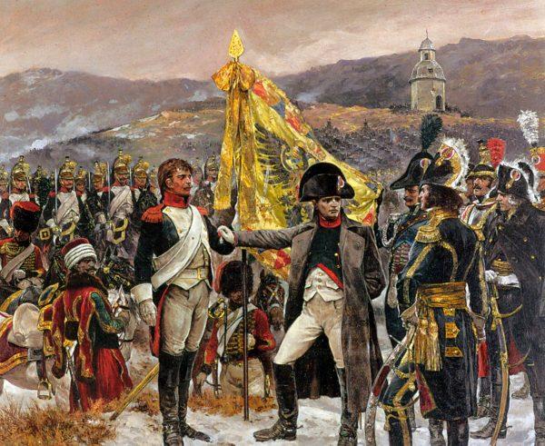 Napoleon nad brzegiem Litawy w 1812 roku.