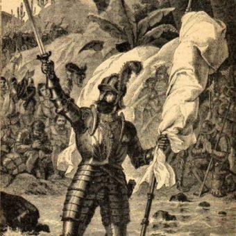 Hiszpańską potęgę kolonialną budował między innymi Vasco Núñez de Balboa.