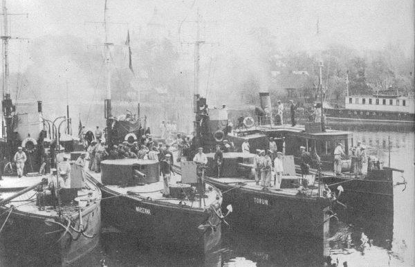 Dnieprzańska Flotylla Wojenna była głównym przeciwnikiem Flotylli Pińskiej (na zdjęciu).