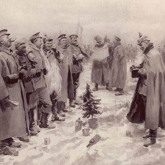 W wielu miejscach żołnierze brytyjscy i niemieccy wychodzili z okopów, by śpiewać wspólnie kolędy.