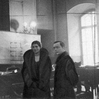 Rita Gorgonowa wraz z adwokatem w trakcie procesu.
