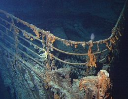 """Zdjęcie wraku """"Titanica"""" z 2004 roku."""