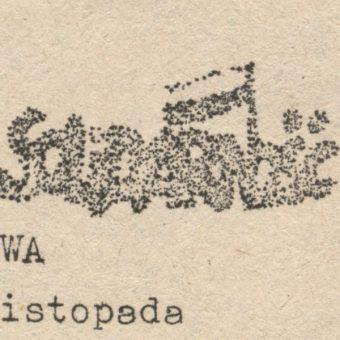Fragment ulotki z informacją o zbliżającej się audycji Radia Solidarność (fot. domena publiczna)
