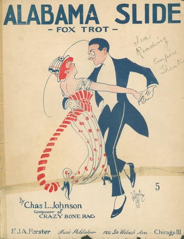 Para tańcząca fokstrota na okładce pochodzącej sprzed pierwszej wojny światowej (fot. domena publiczna)