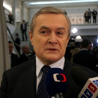 Piotr Gliński. Zdjęcie zrobione podczas pierwszego posiedzenia Sejmu RP VIII kadencji (fot. Piotr Drabik, lic. CC BY 2.0)