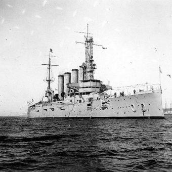 USS San Diego 28 stycznia 1918 roku (fot. domena publiczna)