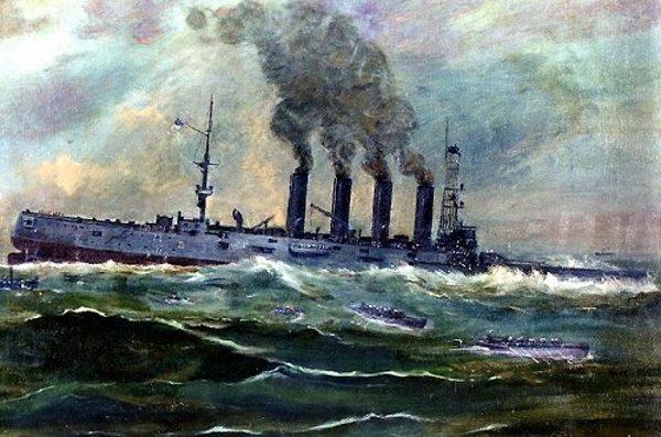 Zatonięcie USS San Diego (fot. domena publiczna)