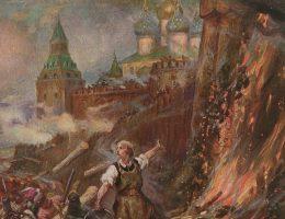 Zdobycie Połocka na rysunku Konstantego Górskiego.