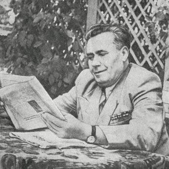 Połupanow na krótko przed śmiercią w 1956 roku.