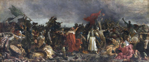 """O porażce pod Cecorą zdecydował brak dyscypliny. Na ilustracji """"Bitwa pod Cecorą"""" pędzla Witolda Piwnickiego."""