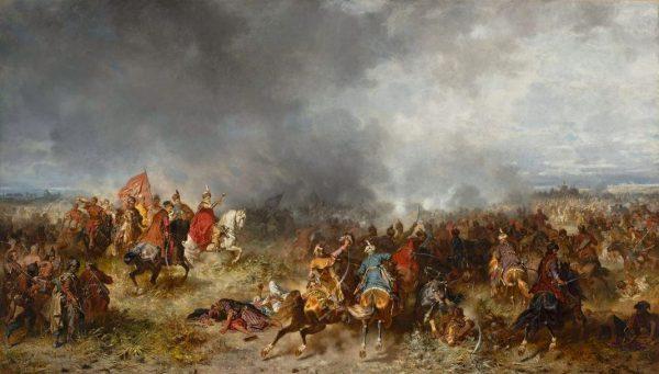 Pod Chocimiem w 1621 roku polska kawaleria rozniosła osmańską jazdę. Na ilustracji obraz Józefa Brandta przedstawiający to starcie.