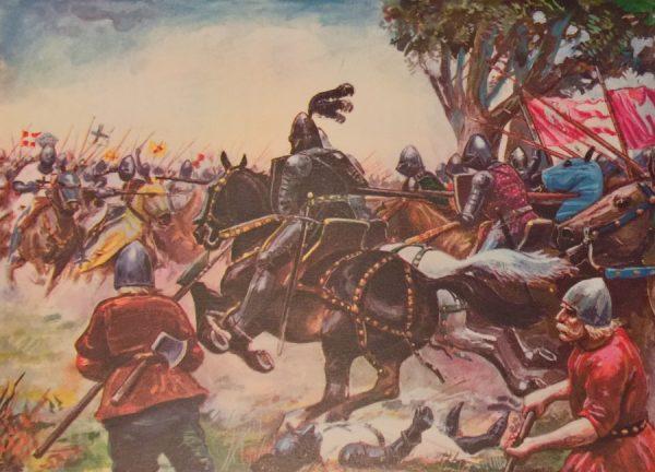 Kopie średniowiecznych rycerzy potrafiły ważyć nawet 14 kilogramów. Na ilustracji obraz Stanisława Haykowskiego przedstawiający bitwę pod Grunwaldem.