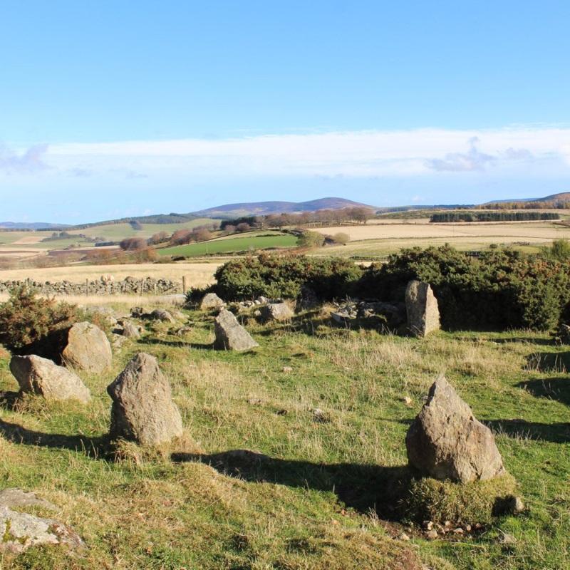 Kamienny krąg, który wzbudził tyle kontrowersji (fot. Neil Ackerman, Aberdeenshire Council Archaeology Service)