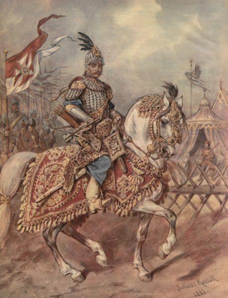 Pod Hodowem husarze wspólnie z pancernymi powstrzymali atak znacznie liczniejszego wroga. Na ilustracji rotmistrz pancerny.