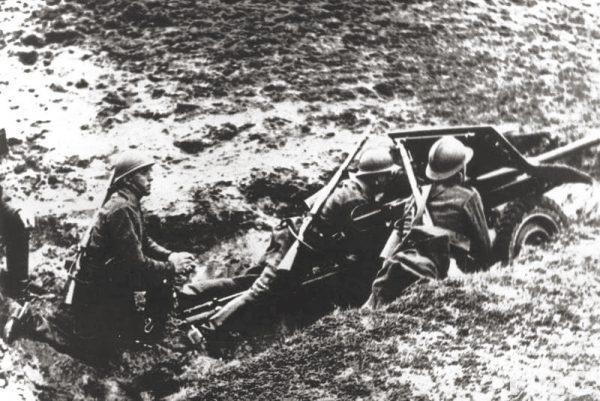 W czasach Marszałka Piłsudskiego niewiele inwestowano w broń przeciwpancerną i przeciwlotniczą. Na zdjęciu działko przeciwpancerne we wrześniu 1939 roku.
