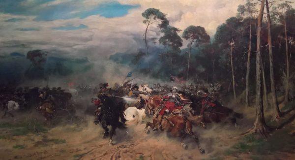 Pod Kłeckiem husaria nie była w stanie pokonać Szwedów. Na ilustracji obraz Józefa Brandta przedstawiający starcie husarii ze szwedzkimi rajtarami.