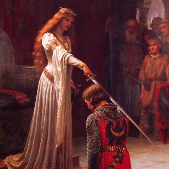 Ważnym elementem pasowania było uderzenie mieczem.