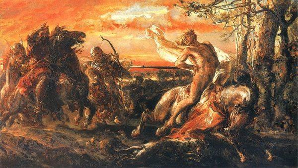 Śmierć Leszka Białego na obrazie Matejki (fot. domena publiczna)