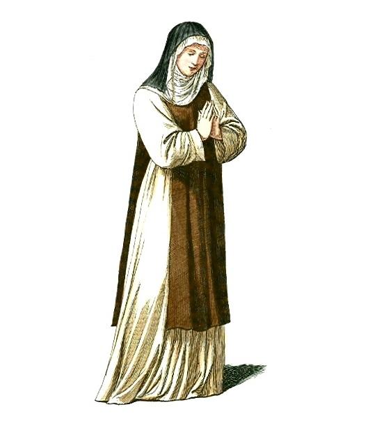 Średniowieczna zakonnica (fot. domena publiczna)